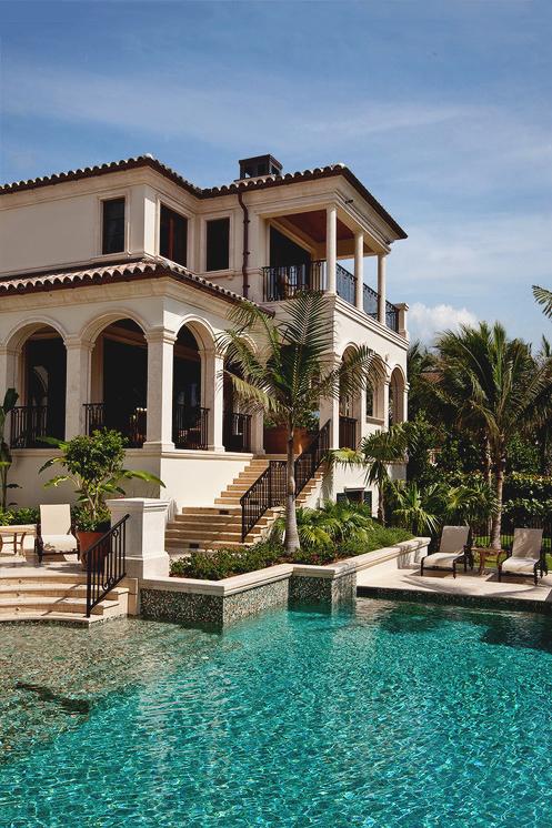 Beautiful Mansion Photography Sky Water Palm Trees Pool Mansion Home Ideas Homes Exterior Design Modern Ho Vneshnij Vid Doma Sredizemnomorskie Doma Elitnye Doma