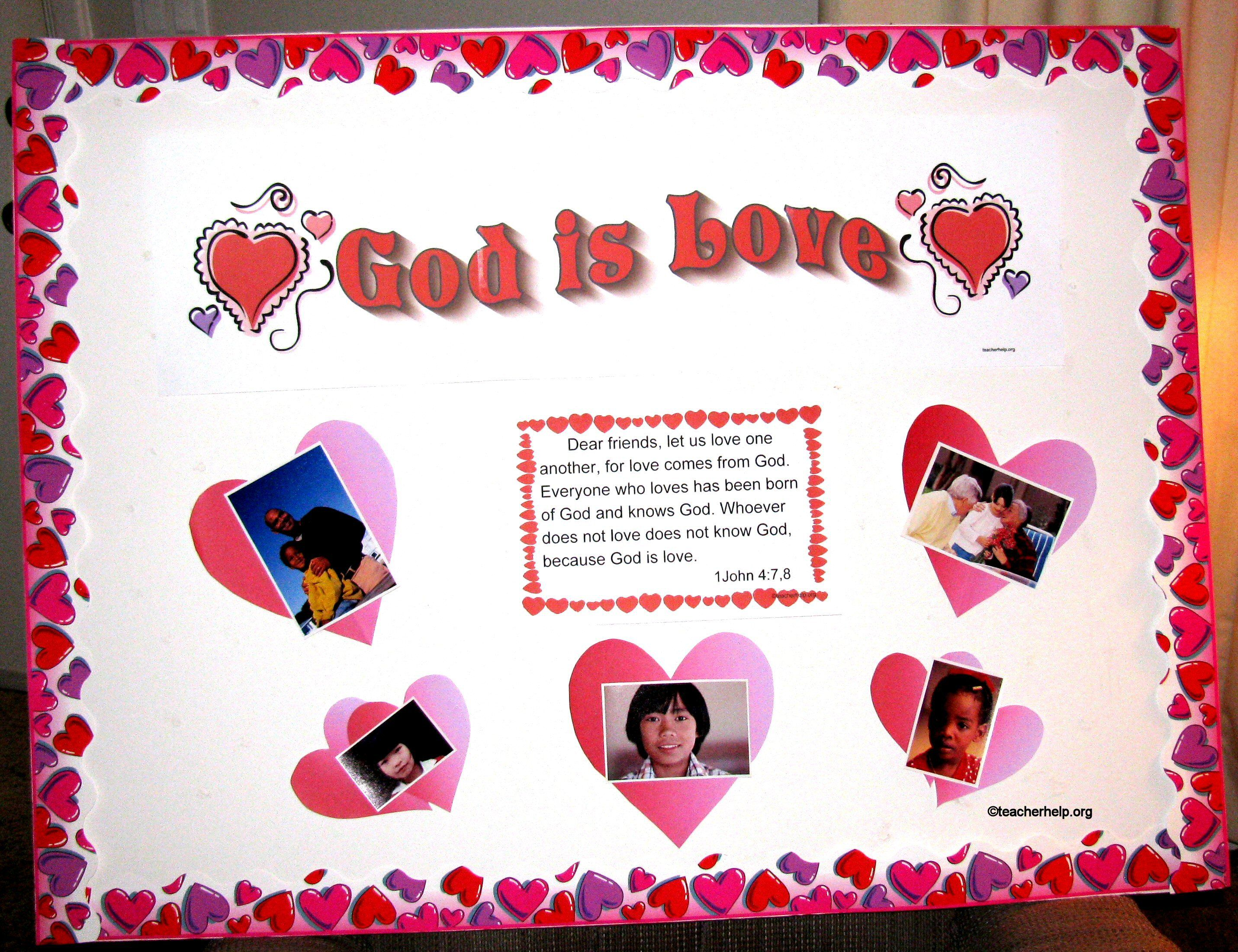 Christian Bulletin Board Ideas God Is Love Bulletin Board
