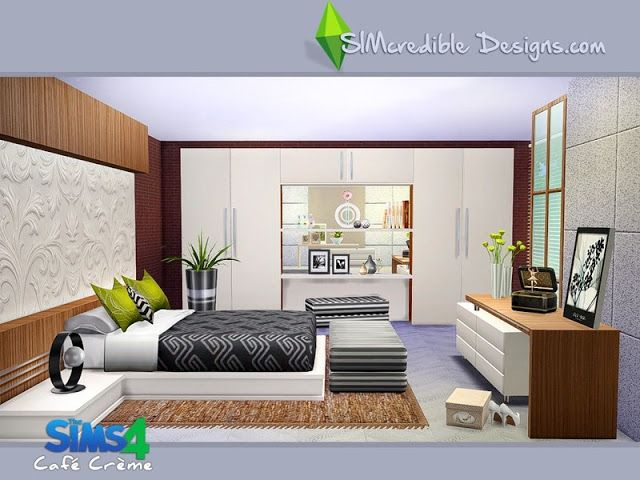 The Best Simcredible S Cafe Creme Bedroom Set Sims Haus The