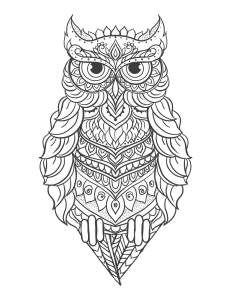 Mandala Eule Gratis Ausmalbilder Eulen Coloring Books Owl Und