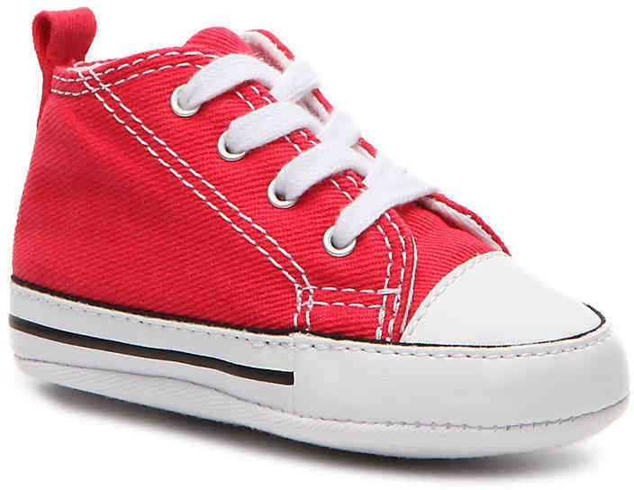 22dcd8d3445d Girls Chuck Taylor All Star First Star Infant Crib Shoe -Red ...