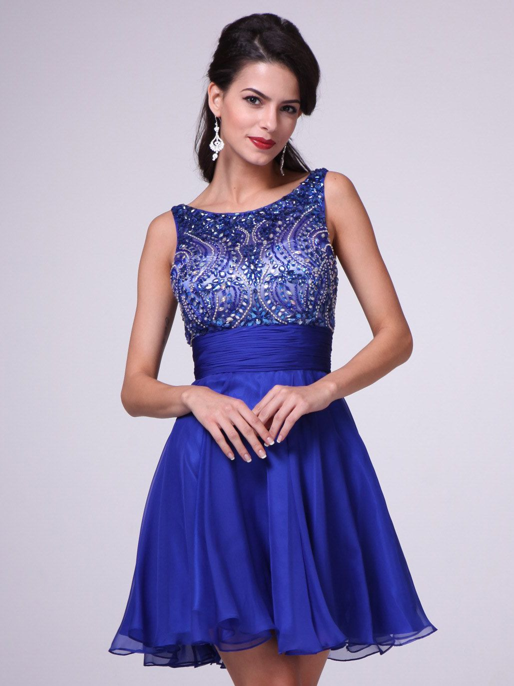 Beaded Sleeveless Short Prom Dress   Sung Boutique L.A.