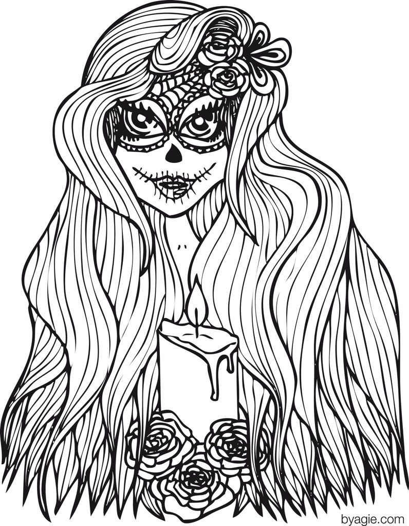 free adult colouring halloween