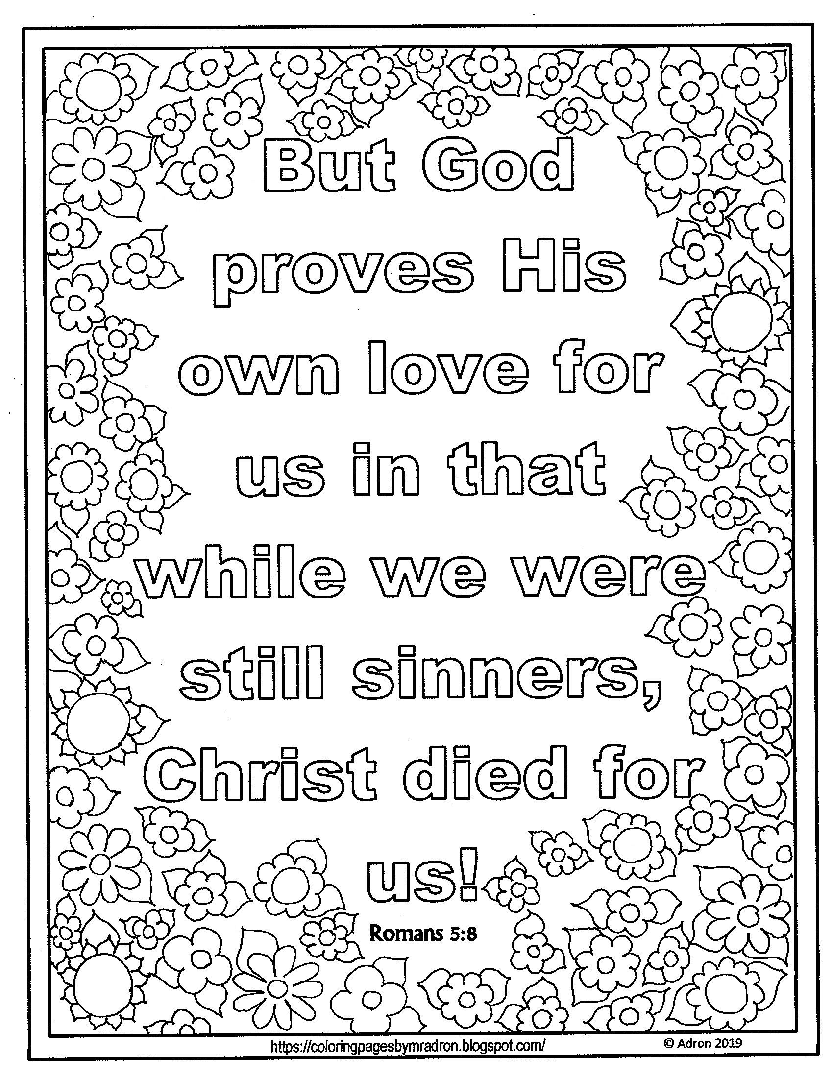 Free Print And Color Page For Lent Devotions Day 22 With Romans 5