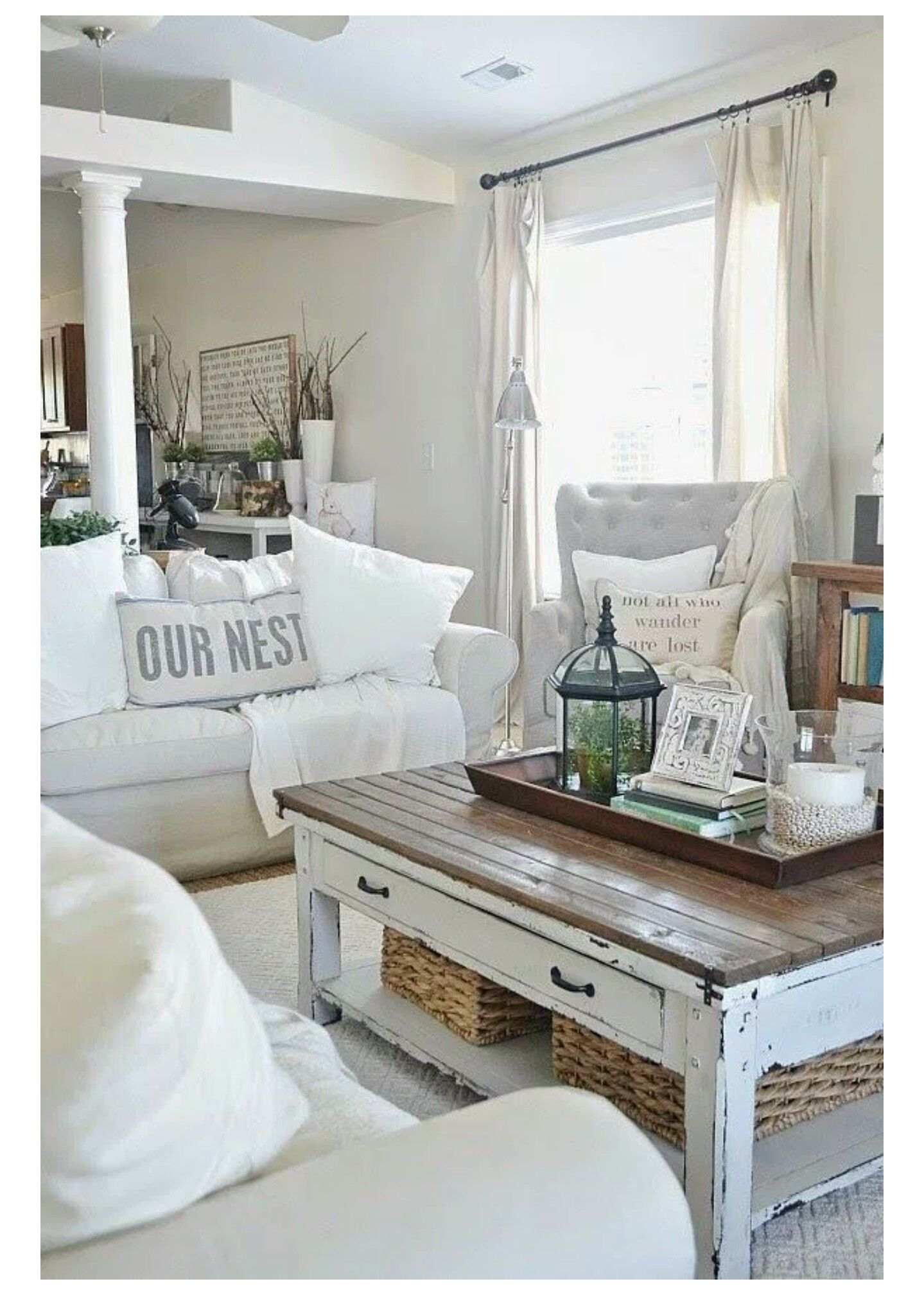 couches room ikea livings nest neutral by pin absolutely on tammie farmhouse i slipcovered lovely pinterest the boatwright cozy love pillow rooms and family beachy our living