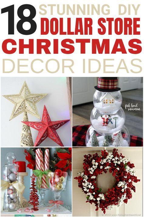 18 Stunning DIY Dollar Store Christmas Decoration Ideas -   19 diy christmas decorations dollar store easy ideas