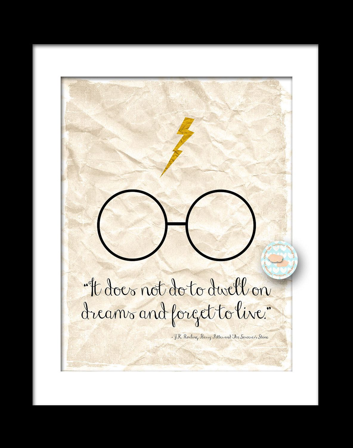Harry Potter Quote Inspired Art Print 8x10 135aowd The Sorcerers