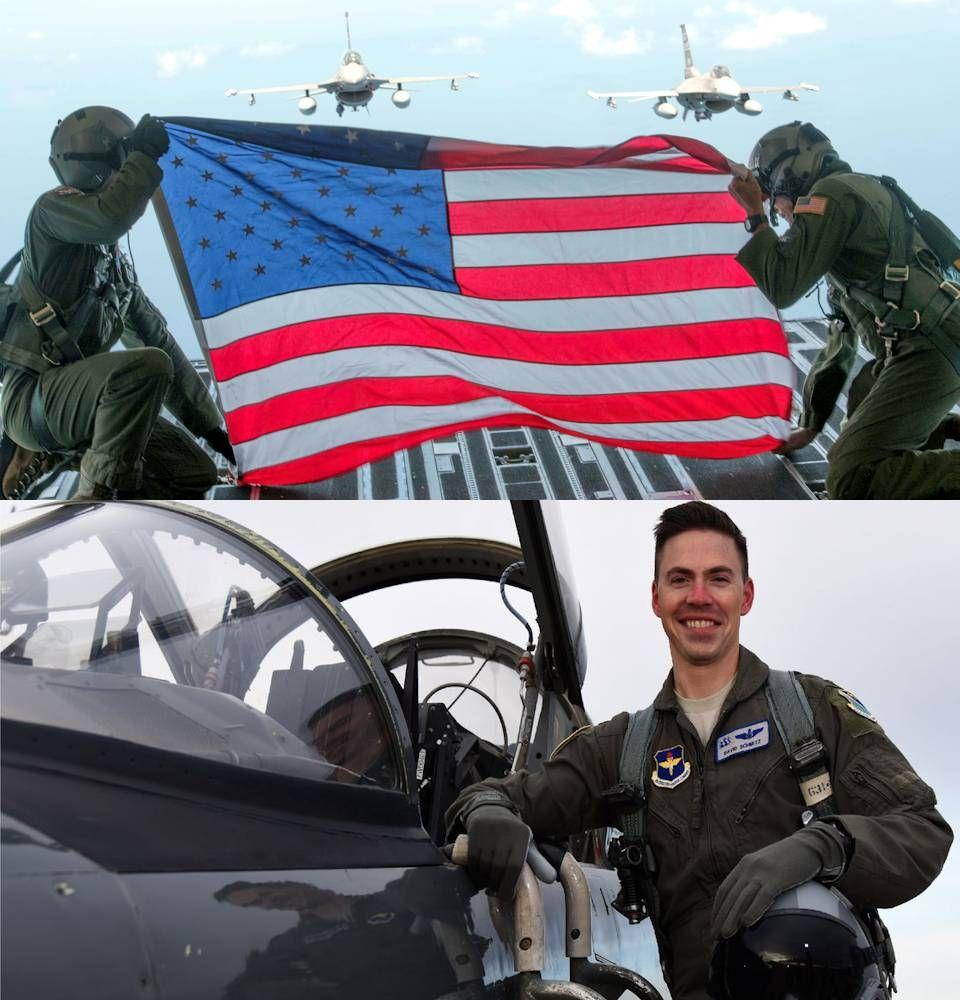 Aerial Flag Salute For Fallen Air Force Hero Air Force Air Shaw Air Force Base