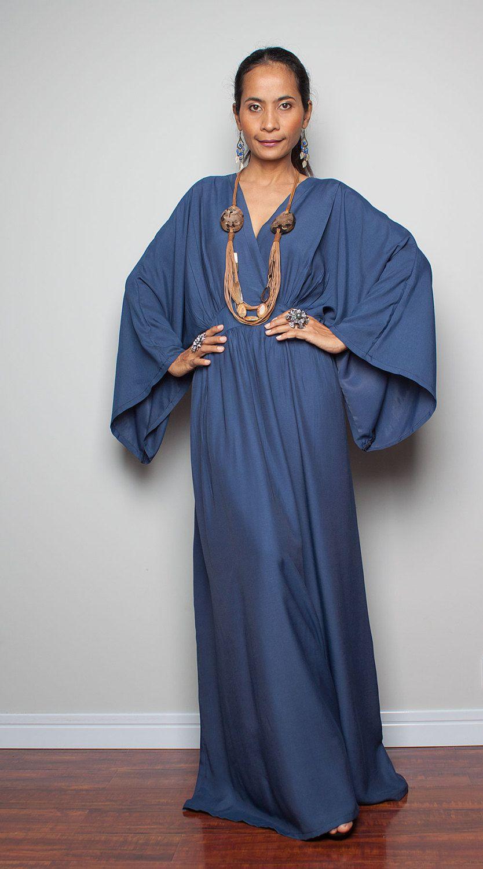 ed754530f4 RESERVED  Kimono Maxi Dress - Women Kaftan Maxi Dress   Boho Kimono ...