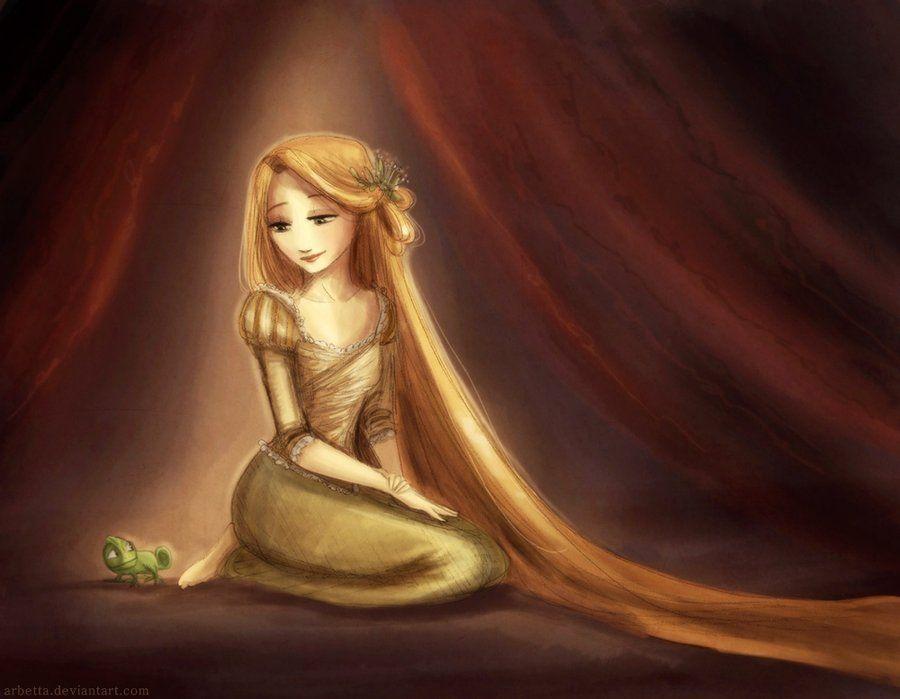 Glow in the dark by ~Arbetta on deviantART (Rapunzel)