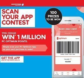 Scan Your App Contest to Win 1 Million PC Optimum Points