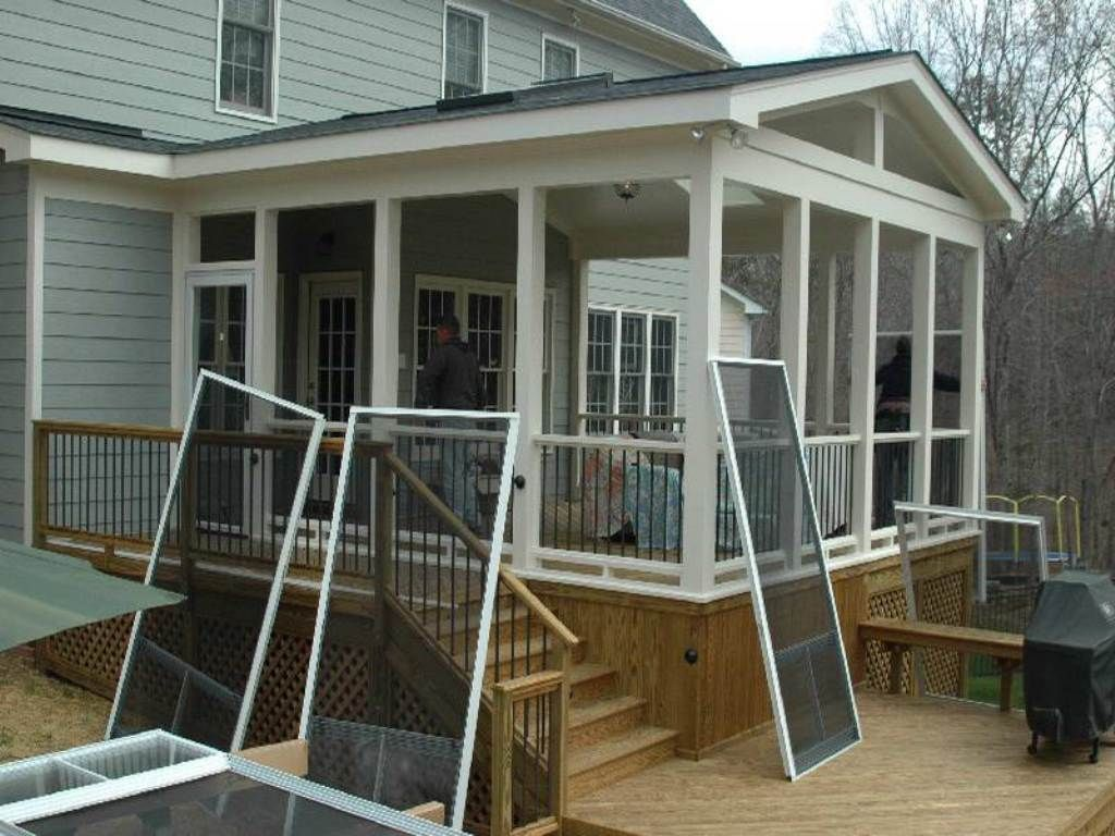 Screened in porch ideas adorable screen porch plans do it yourself stuff pinterest Screened porch plans designs