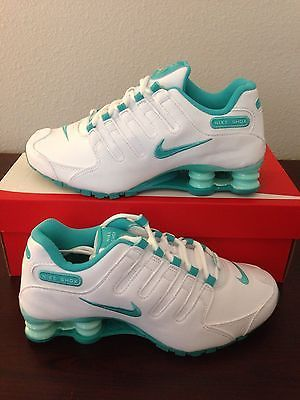 e3267b6d4bdc1e Nike Shox NZ EU Womens Running Shoes White Green 488312 109 SIZES 7 - 10
