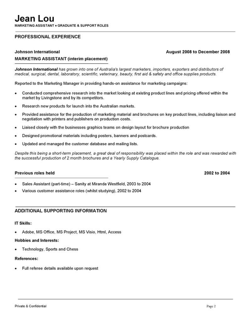 marketing description for resume Looking a new job as a marketing manager we provide you with a marketing manager cv template which you can download to help create the perfect cv.