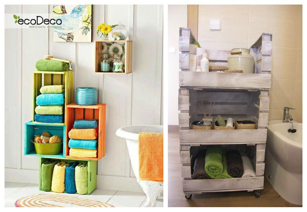 Estanter as con cajas de fruta cajas de fruta - Estanterias con cajas ...