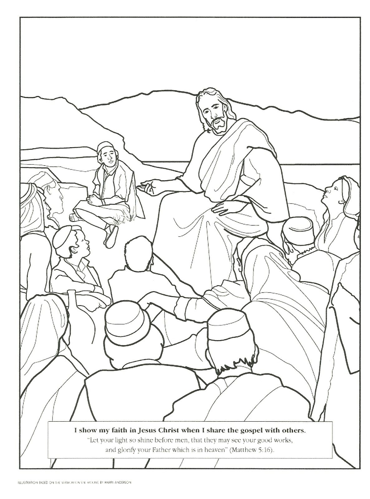 Primary 2 Manual Lesson 22 Blessed Are the Peacemakers Journal Page ...