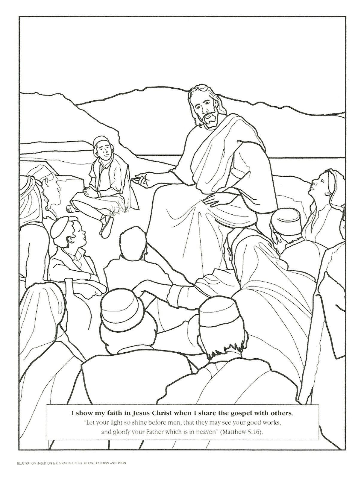 Jesus Coloring Pages Lds