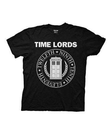 Another great find on #zulily! Doctor Who Time Lords Circular Seal Tee - Men's Regular #zulilyfinds