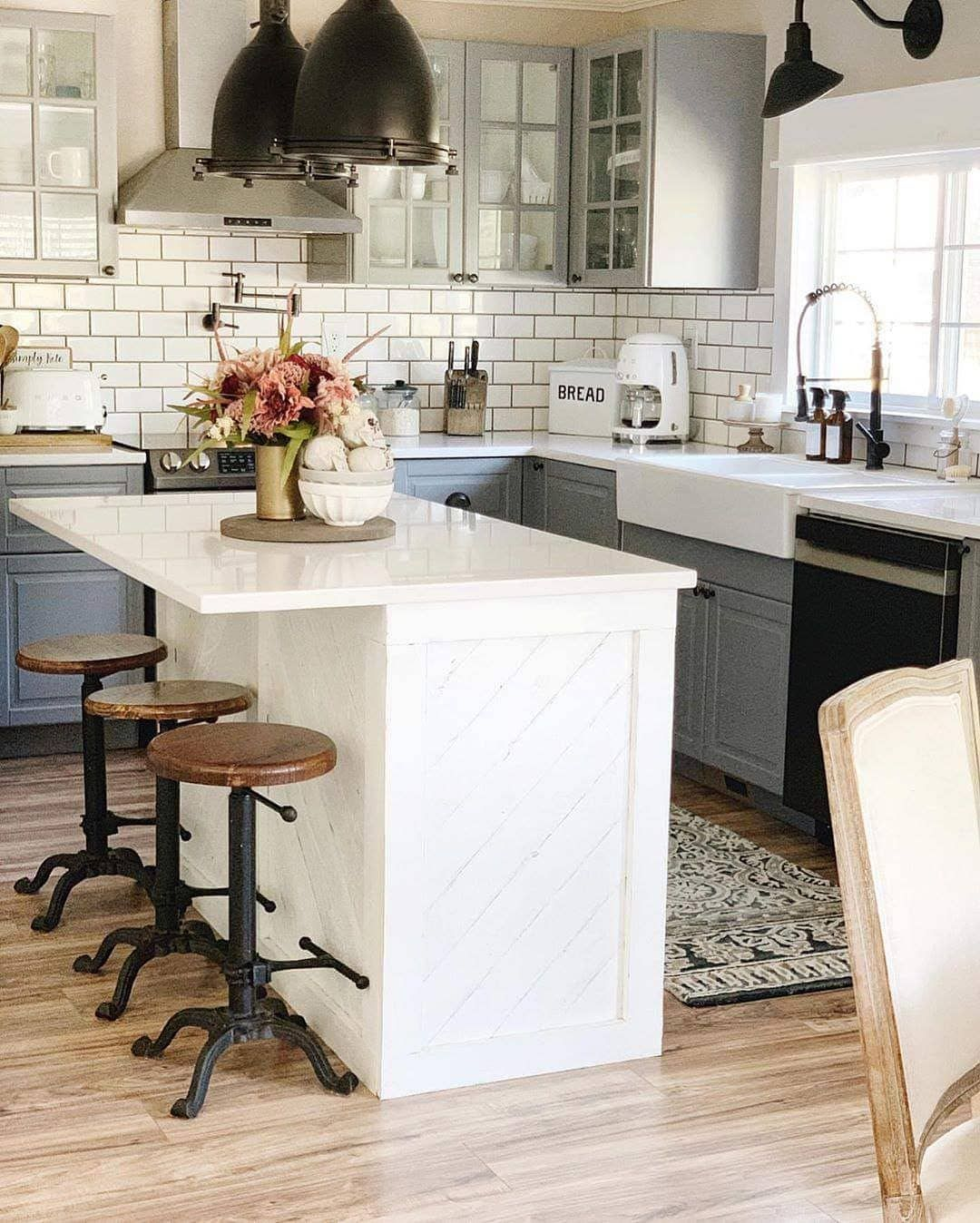 farmhouse is my style on instagram farmhouse kitchen with slate blue and silver grey cabinets on farmhouse kitchen grey cabinets id=14069