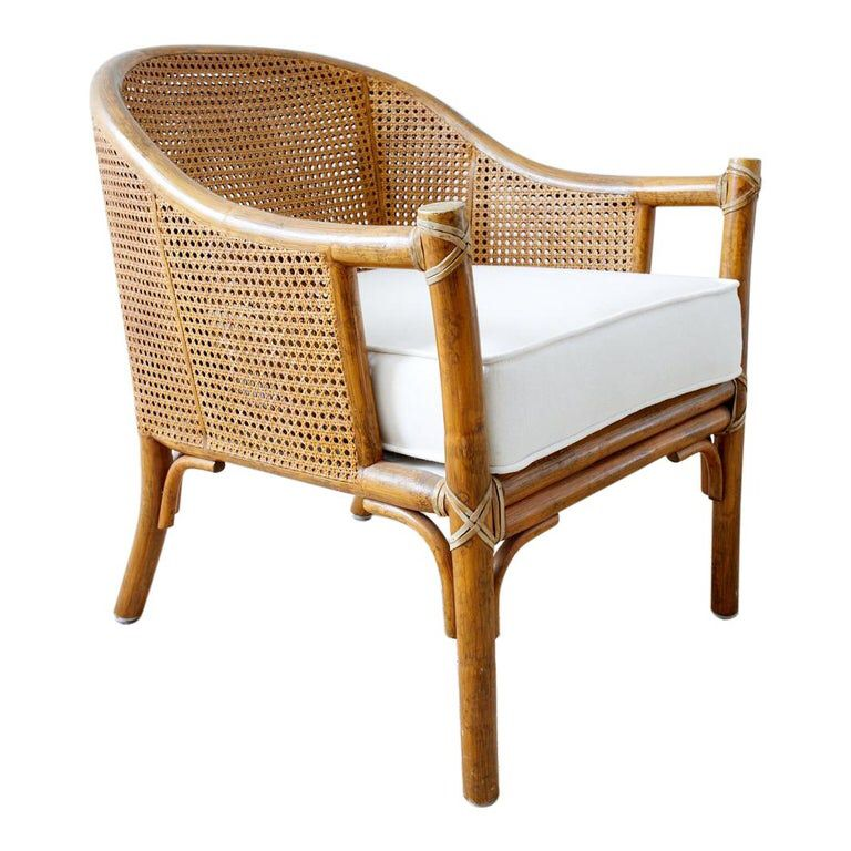 Mcguire organic modern caned rattan barrel chair in 2020