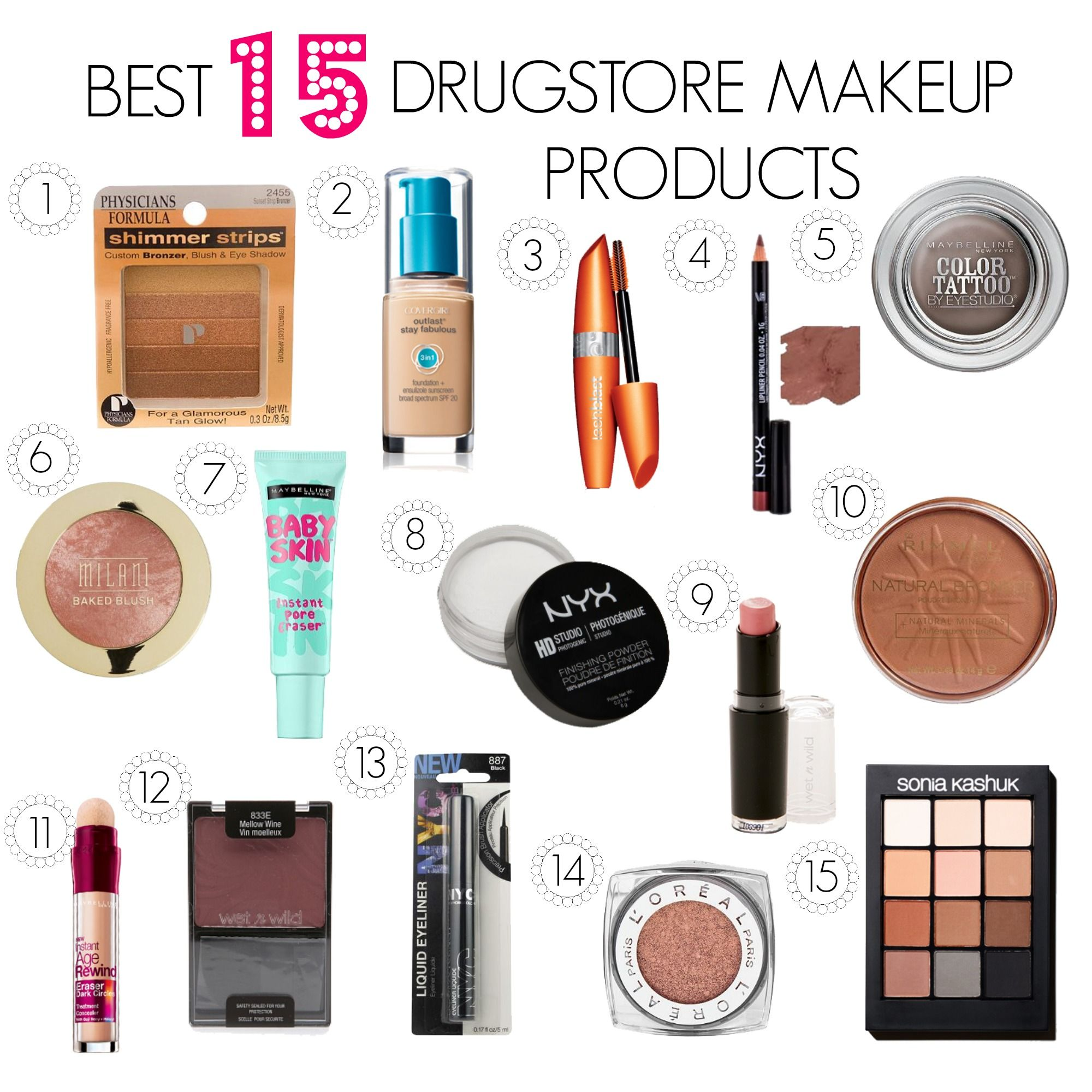 BEST DRUGSTORE PRODUCTS OF 2016 Makeup Tutorials