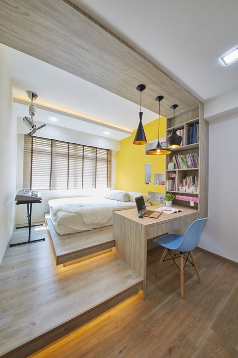 Hdb Two Room Bto 47: 4 Room BTO HDB Singapore Interior Design Bedroom (With
