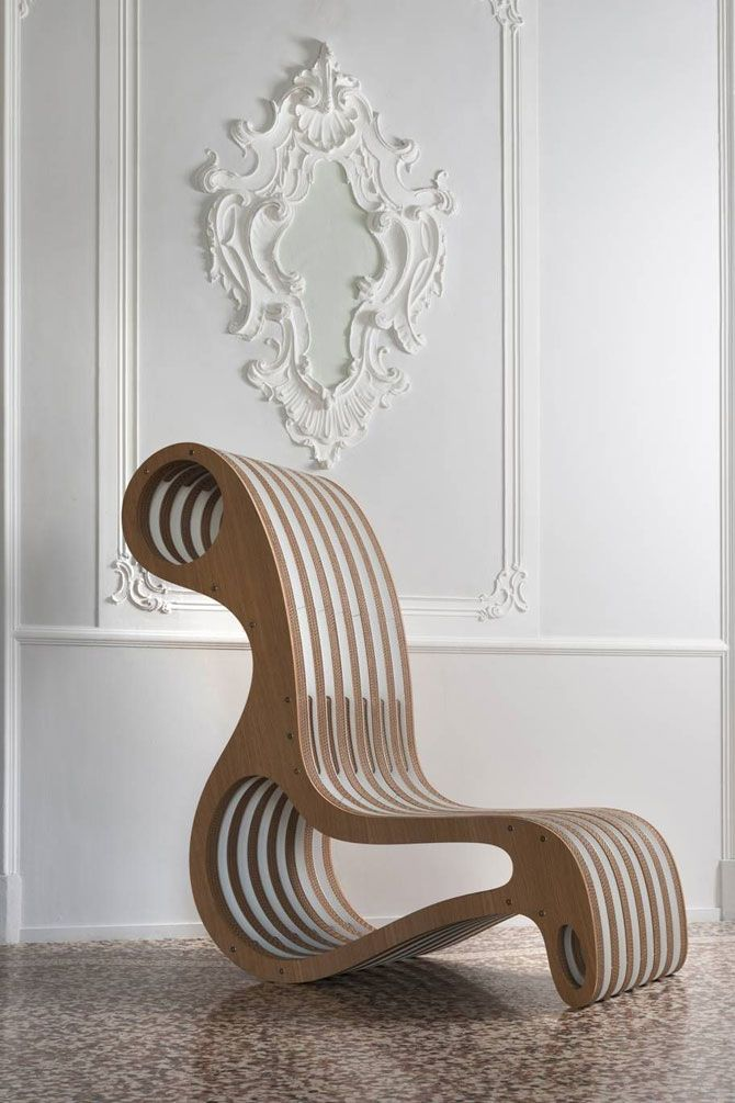 cardboard furniture by Giorgio Caporaso
