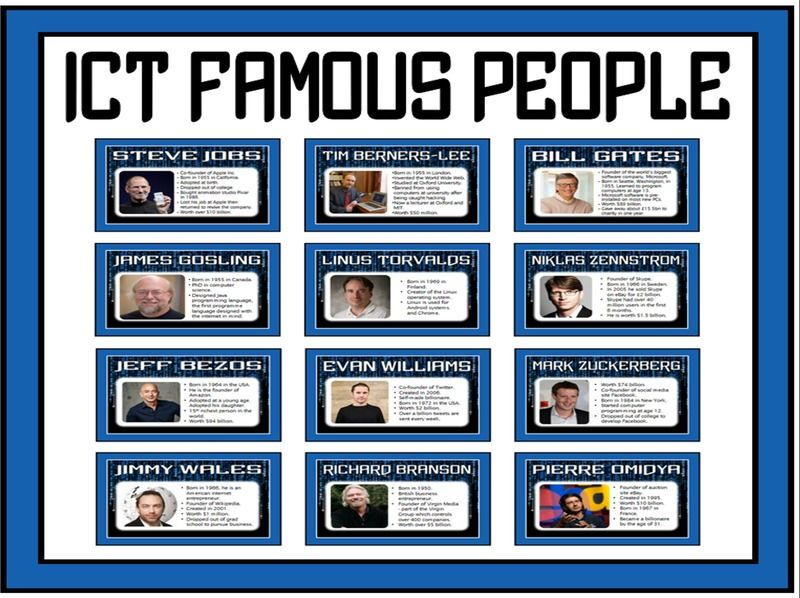 It ict famous people posters computers computing display