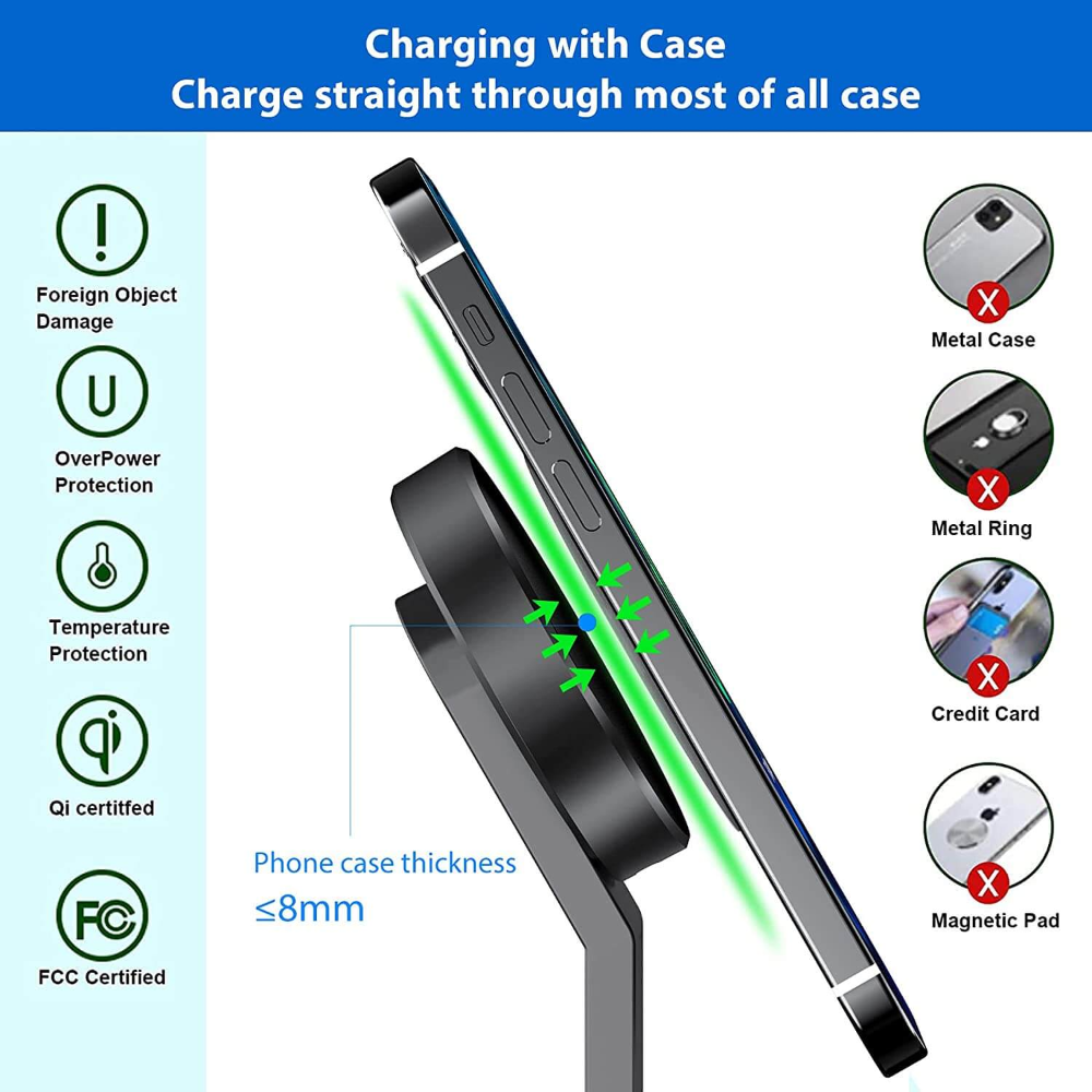 iPhone 12 Magsafe charging station, 3in1 magnetic charging stand iphone 12 pro max,apple watch and airpods Gallery