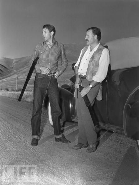 Hemingway and Gary Cooper. Just a couple of bros, with guns