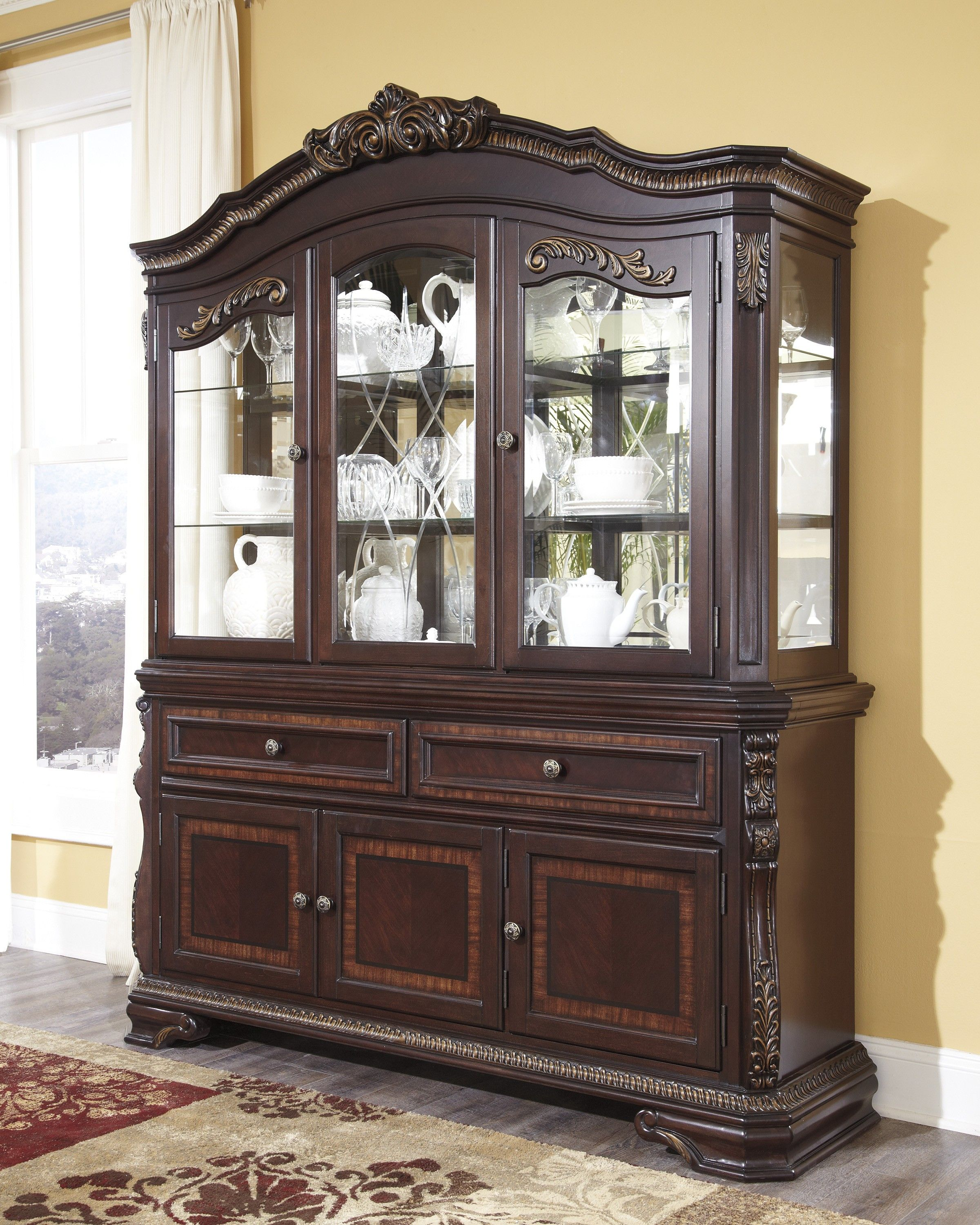 Dining Room Buffet With Hutch  Design Ideas 20172018  Pinterest Inspiration Dining Room Buffet Hutch Inspiration Design