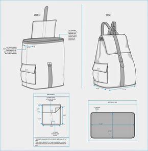 Mochila feita de Tecido   Molde mochila, Moldes de bolsas