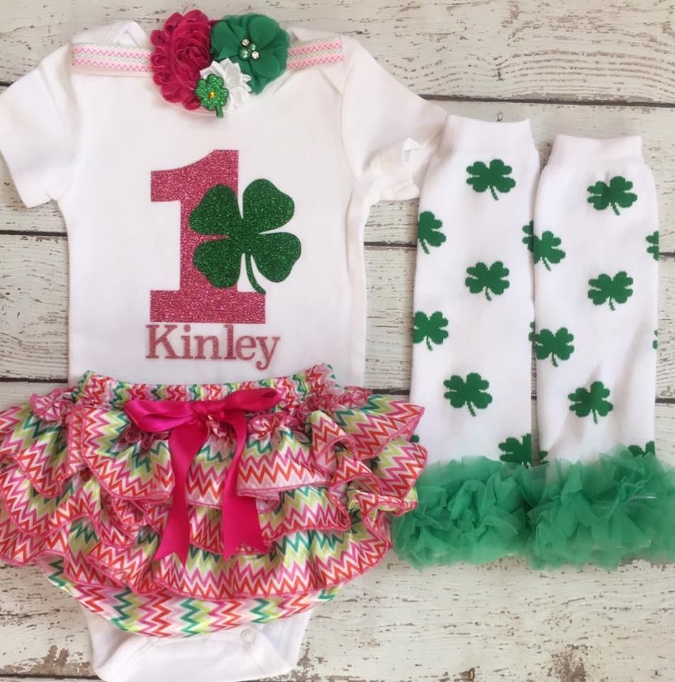 First Birthday outfit St Patrick's Day/ Irish Baby/Lucky