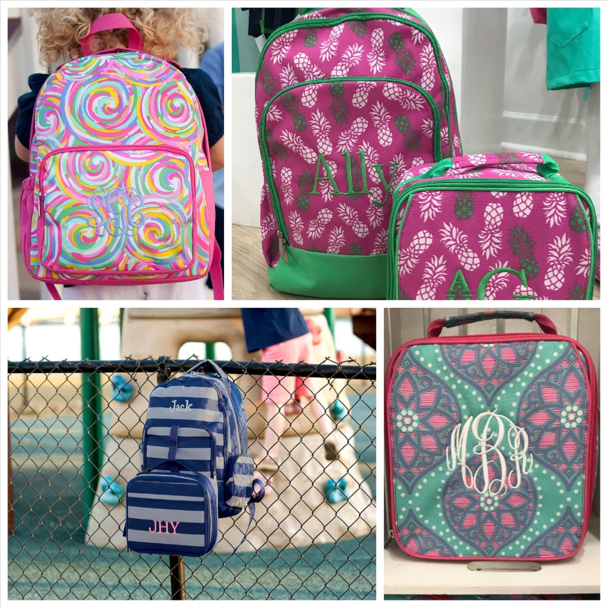 personalized backpack or lunch