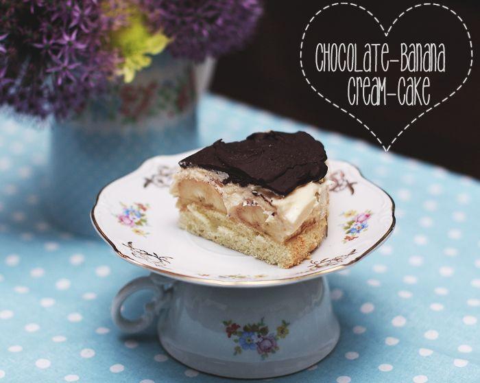 ( Puppenzimmer ): Chocolate-Banana-Cream-Cake