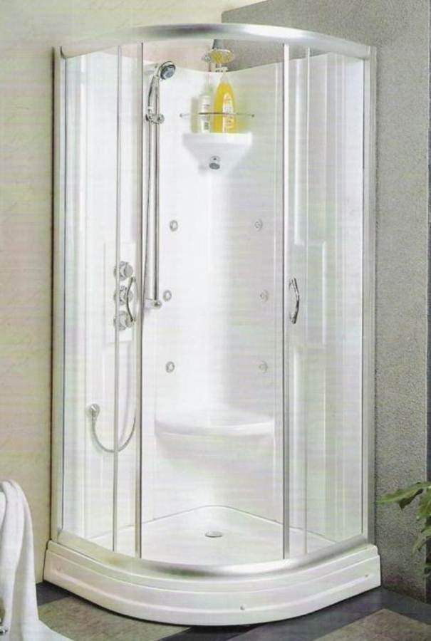 The Benefits Of A Doorless Walk In Shower With Images Corner Shower Stalls