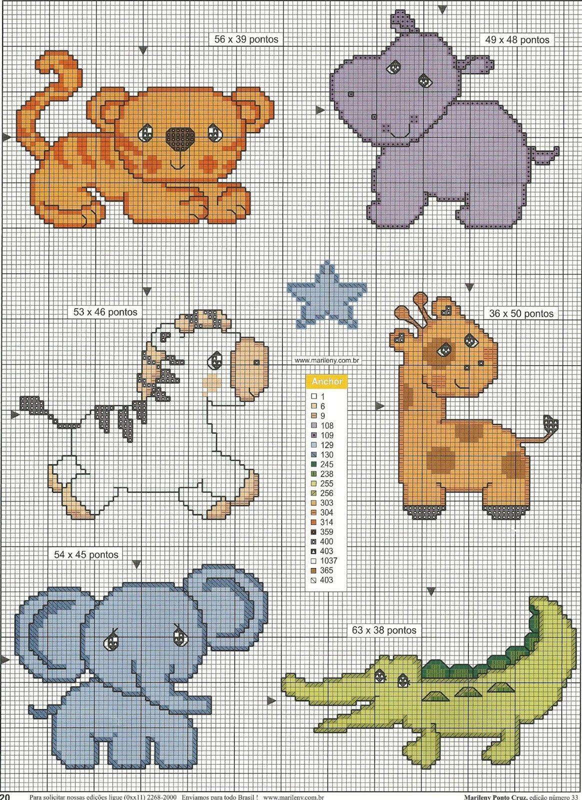 Risultati immagini per ponto cruz safari graficos ponto for Immagini di punto croce