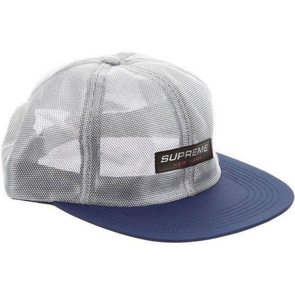 a46201a5de8 Pre-owned Supreme Metallic Mesh Competition Cap ( 125) ❤ liked on Polyvore  featuring