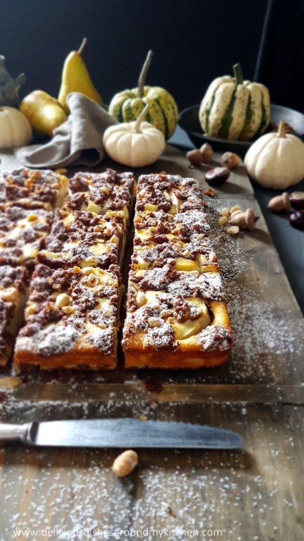 Russischer Zupfkuchen Mit Birnen Und Erdnussen Zupfkuchen Kaffee Und Kuchen Kuchen Und Torten