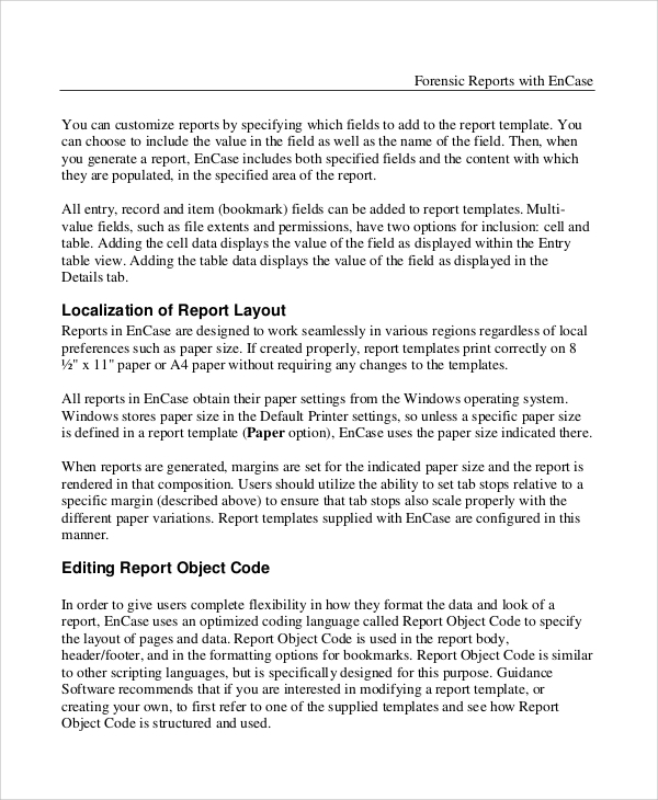 Forensic Report Template 7 Professional Templates Report Template Doctors Note Template Templates