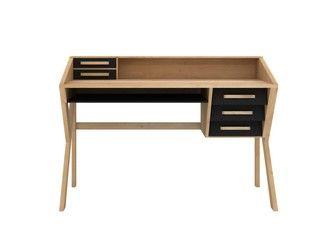 Bureau en bois massif avec tiroirs ORIGAMI   Bureau - Ethnicraft