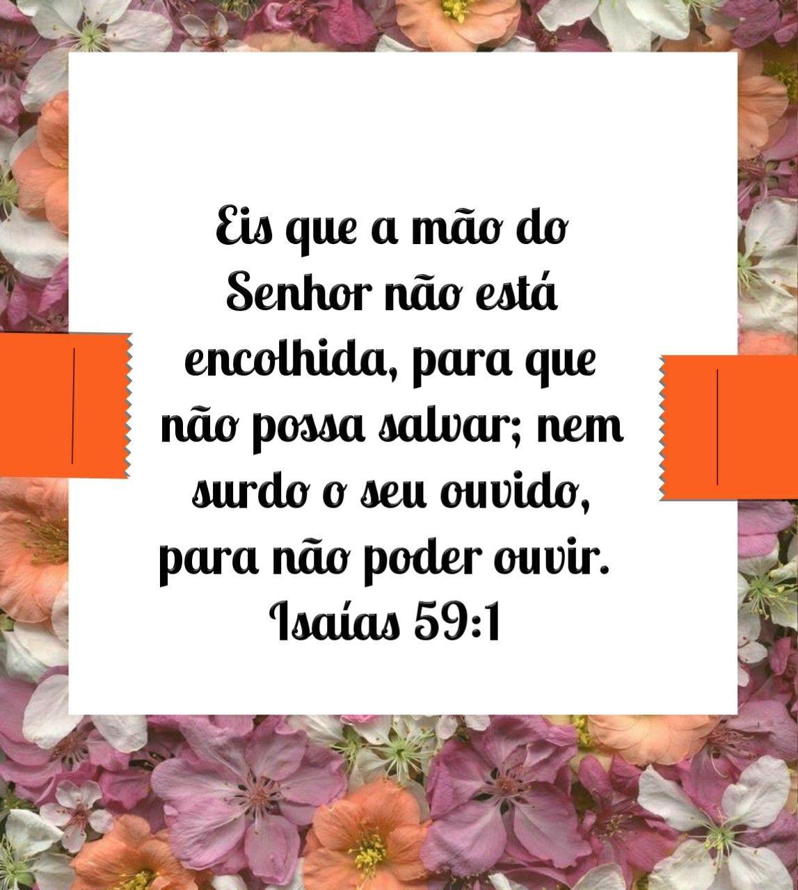 Isaias 59 1 Palavra De Deus Palavra Palavras Do Senhor