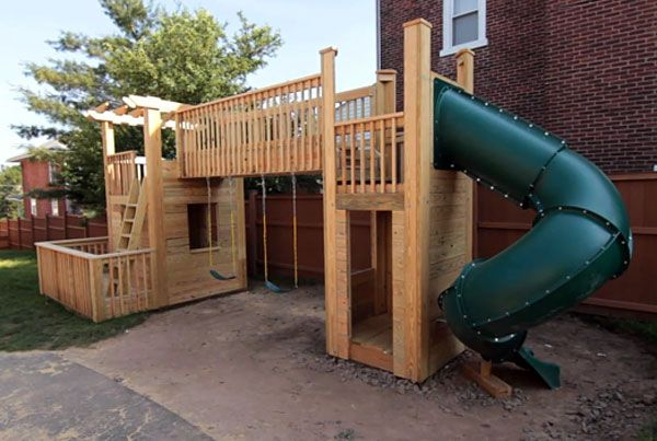 How To Build An Outdoor Wood Playset Of Your Dreams Playset Outdoor Backyard Play Backyard Swing Sets