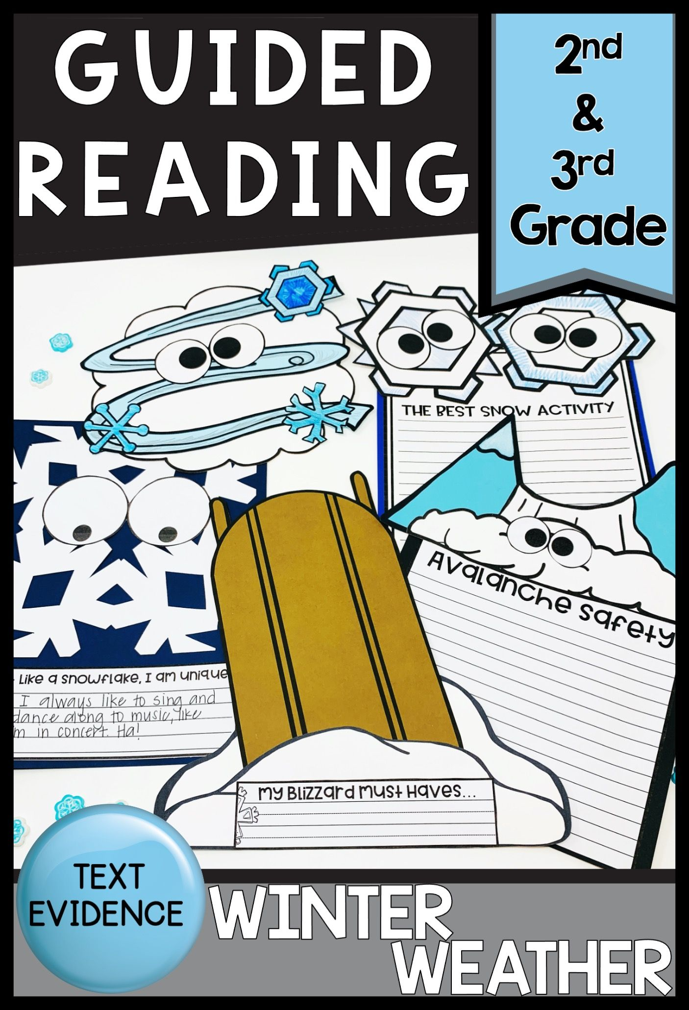 Winter Weather Guided Reading Text Evidence Bundle In