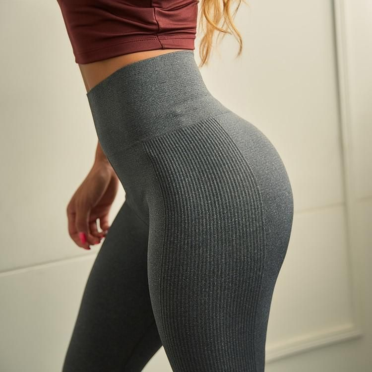 d286ce90a Peeli High Waist Sports Leggings Fitness Push Up Yoga Pants Women Tummy  Control Running Tights Workout Gym Seamless Leggings