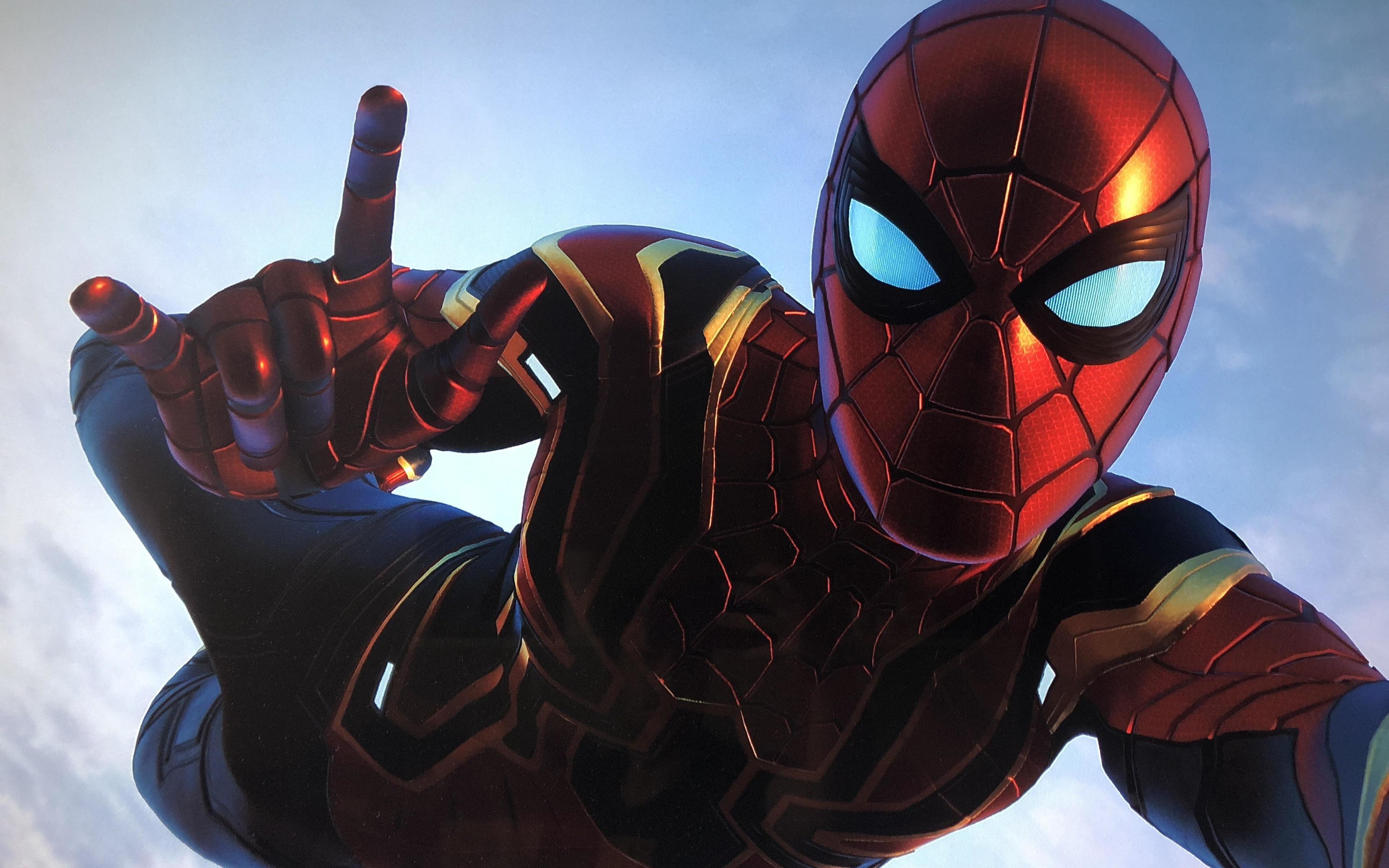 Spiderman Iron Stark Suit 4k Wallpaper Http Www Fullhdwallpapers Club 2018 10 04 Spiderman Iron Stark Suit Spiderman Artwork Spiderman Avengers Wallpaper