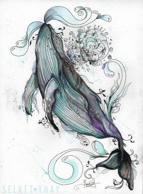 #yubarta #whale   Ballenas   Pinterest   Tattoo Ideen, Uhu Und Aquarell