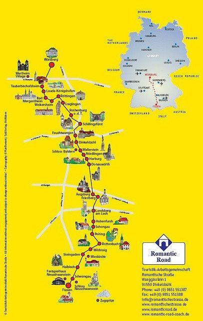 romantic road germany   Romantic Road Map - Germany   Travel ...