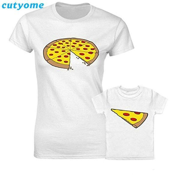 4989c2d3d05c4 Pizza Matching T Shirts for Parent and Child