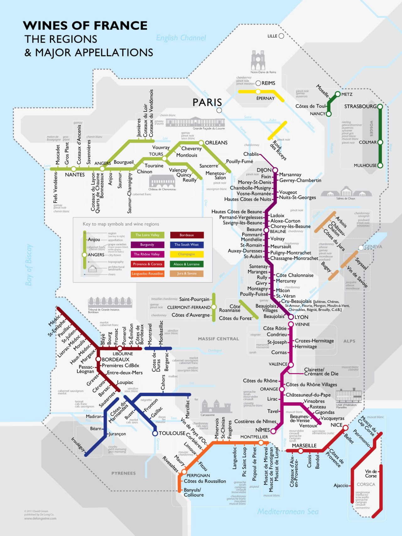 Amazing Map Of Wines Of France Regions And Major Appellations